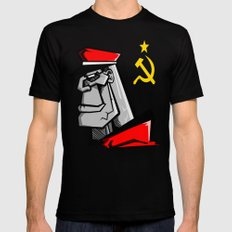 For Russia Mens Fitted Tee MEDIUM Black