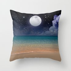 From the Sand to the Moon Throw Pillow