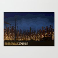 boardwalk empire Canvas Prints featuring boardwalk empire by christopher-james robert warrington