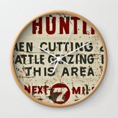 No Hunting! Wall Clock