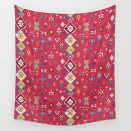 KILIM NO.1 IN DESERT MAGENTA Wall Tapestry