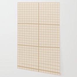 Tan Brown Greek Key Pattern Wallpaper