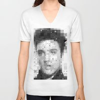 elvis V-neck T-shirts featuring Elvis by Artstiles