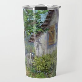 Whitewashed – Palette Knife Barn Painting Travel Mug