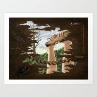 roald dahl Art Prints featuring The Min Pins by Roald Dahl by Laura Jackman