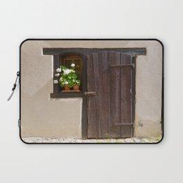 Old Wooden Door and Window Laptop Sleeve