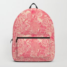 Cute watercolor pink hearts pattern Backpack