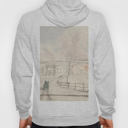 Vintage Montpelier Vermont Watercolor Painting (1841) Hoody