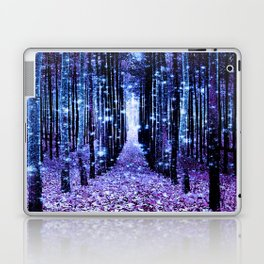 Magical Forest Turquoise Purple Laptop & iPad Skin