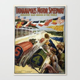 Vintage poster - Indianapolis Motor Speedway Canvas Print