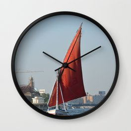 Felucca In Cairo Wall Clock