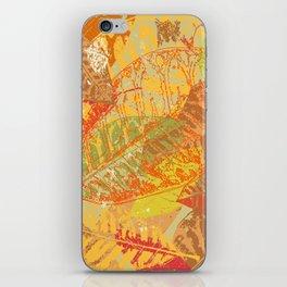 Autumn leaves #5 iPhone Skin