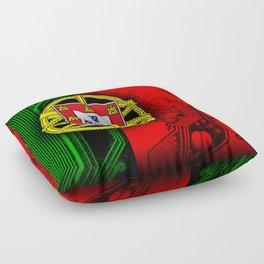 circuit board Portugal (Flag) Floor Pillow