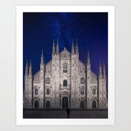 Under the starlit sky Art Print