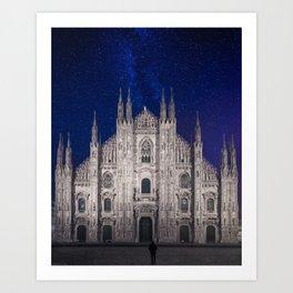 Under the starlit sky Art Print