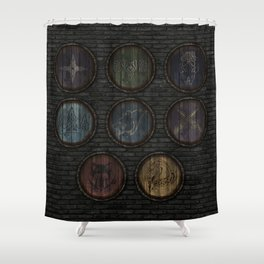 Medieval Shields Shower Curtain