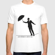 no safety net White MEDIUM Mens Fitted Tee
