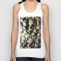 skulls Tank Tops featuring skulls by SINPE