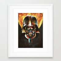 darth vader Framed Art Prints featuring Darth Vader  by Mishel Robinadeh