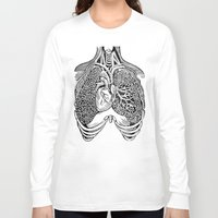 lungs Long Sleeve T-shirts featuring Lungs by Orange Blood Gallery