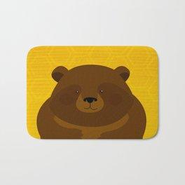 Bees and Bear by Friztin Bath Mat