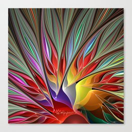 Fractal Bird of Paradise Canvas Print