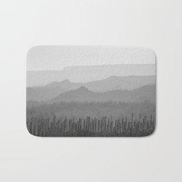 Sunrise at the misty mountains. Bad lands. WB Bath Mat