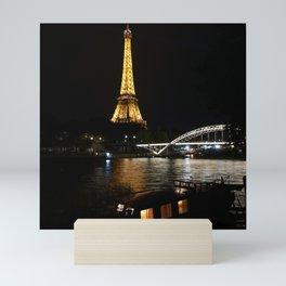 Eiffel Tower At Night 6 Mini Art Print