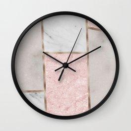 Pink stones - rose gold adorns Wall Clock
