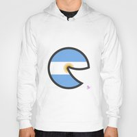 argentina Hoodies featuring Argentina Smile by onejyoo
