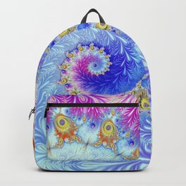Pink Ice Spiral Fractal Backpack