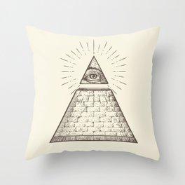 iLLuminati Throw Pillow