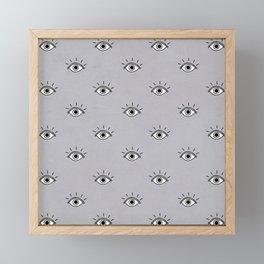 You Caught My Eyes (Gray) Framed Mini Art Print