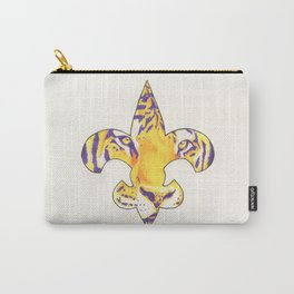 Fleur De Lis LSU Tiger Carry-All Pouch