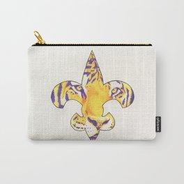 Fleur De Lis LSU Tiger Carry-All Pouch