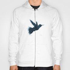 Bird Fly No. 1 (Black/Aqua) Hoody