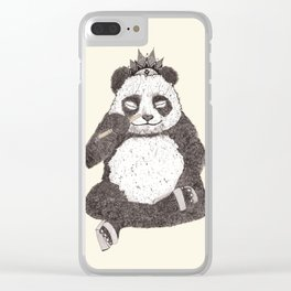 Panda - meditates like Buddha Clear iPhone Case