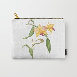 Flowering yellow cattleya orchid plant Carry-All Pouch