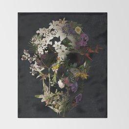 Spring Skull 2 Throw Blanket