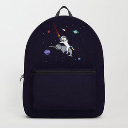 Unicorn Riding Narwhal In Space Backpack