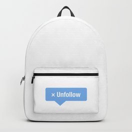 Unfollow Social Icon Backpack