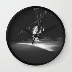 Minimalistic black and white waterfall Wall Clock
