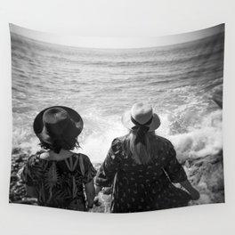 """Sisters on the Shoreline"" Holga photograph Wall Tapestry"