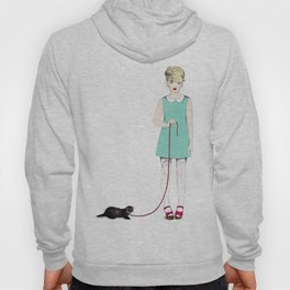 The girl with the ferret Hoody