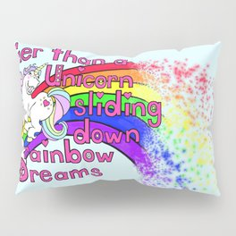 Happy Unicorn Pillow Sham