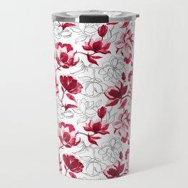 Red Magnolia Travel Mug