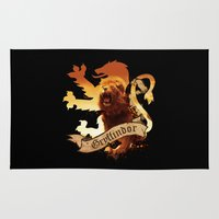 gryffindor Area & Throw Rugs featuring Gryffindor by Markusian