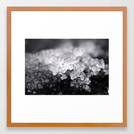 Sculpted Ice Framed Art Print