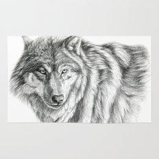 Wolf portrait G031 Rug