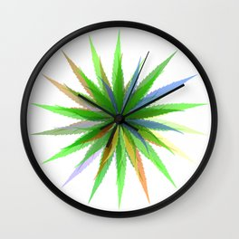 leaves of grass Wall Clock